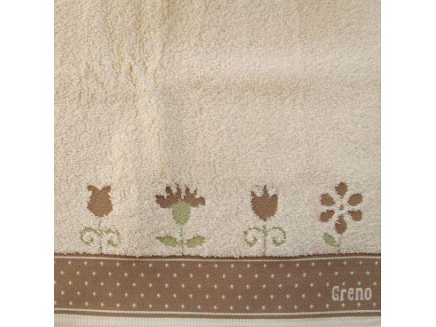 Ręcznik Greno  In Love beżowy  50x90
