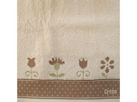Ręcznik Greno  In Love beżowy  70x140