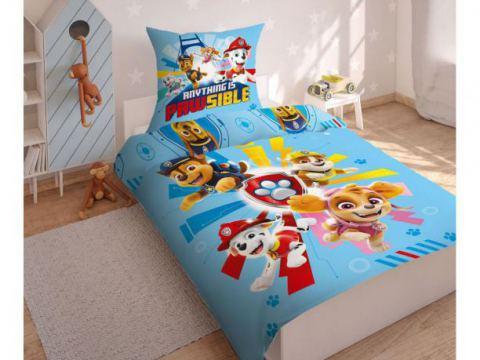 Pościel z bawełny dla dzieci - Psi  Patrol - 140x200 +70x80 - Paw  0007