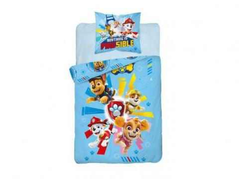 Pościel z bawełny dla dzieci - Psi  Patrol - 160x200 +70x80 - Paw  0007