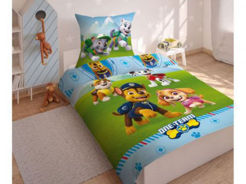 Pościel z bawełny dla dzieci - Psi  Patrol - 160x200 +70x80 - Paw  0008