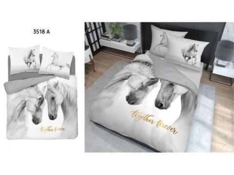 Pościel z bawełny - 220x200 - 3518 a -  Konie - Holland  holenderska