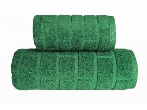 Ręcznik Brick - zielony - 50x90 - Greno