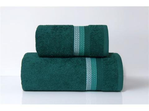 Ręcznik Ombre - 50x90 - zielony z bordiurą - jednobarwny -  Fine Collection -  Greno