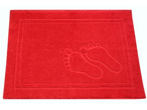 Dywanik łazienkowy - Feet - 50x70 cm - Czerwony - Greno