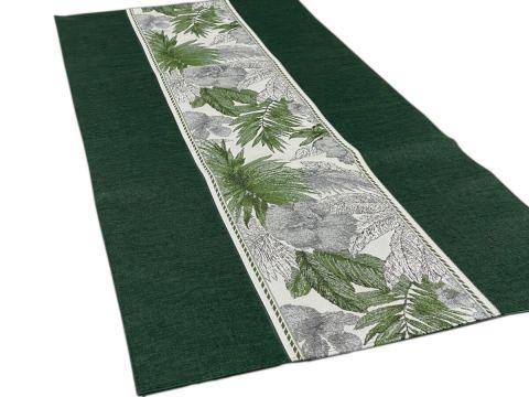 Dekoracyjny bieżnik - 40x90 cm - Flora - int 522 zielony