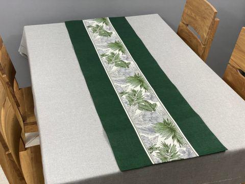 Dekoracyjny bieżnik - 40x140 cm - Flora - int 522 zielony - szal