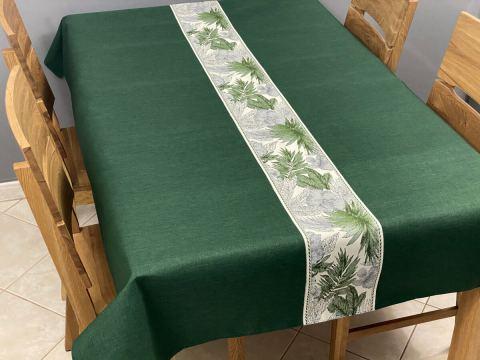 Obrus dekoracyjny - Flora - 140x220 - int 522 - zielony
