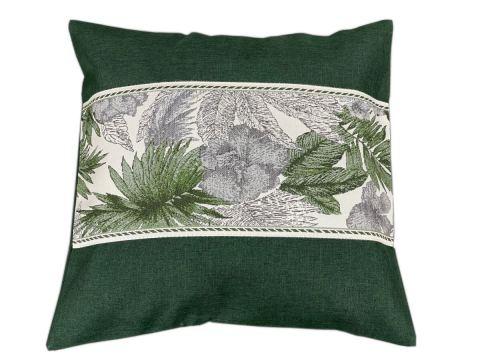 Poszewka dekoracyjna - 40x40 -Flora - zielona - int 522