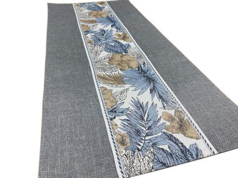 Dekoracyjny bieżnik - 40x90 cm - Flora - int 520 - popielaty