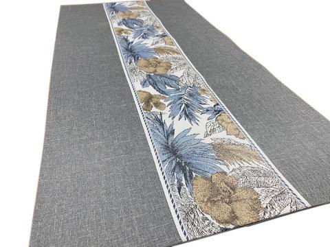 Dekoracyjny bieżnik - 50x100 cm - Flora - int 520 - popielaty