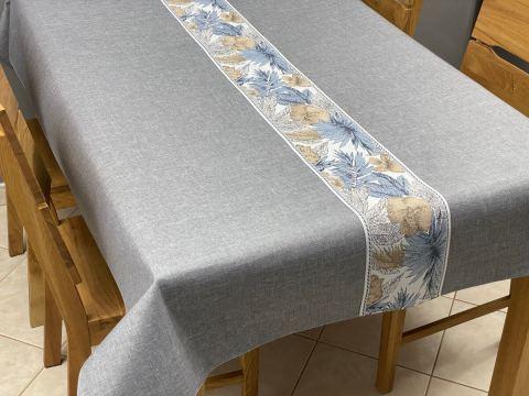 Obrus dekoracyjny - Flora - 130x180 - int 520 - popielaty