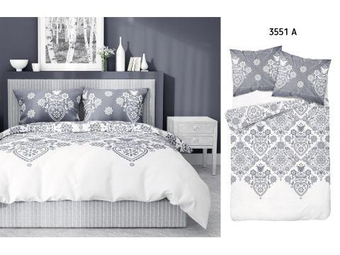Pościel z bawełny - 220x200 - 3551 a - Łowicka biała Detexpol
