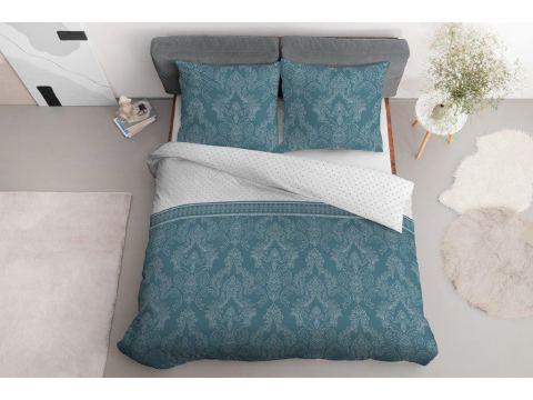 Pościel z bawełny - 160x200 - 3555 b - Ornament morski - Detexpol