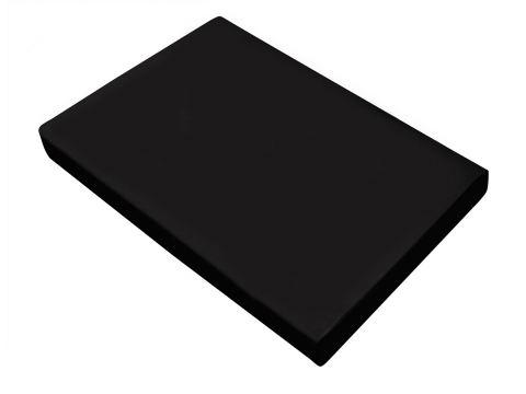 Prześcieradło satynowe 160x210 Czarne bez gumki  Greno
