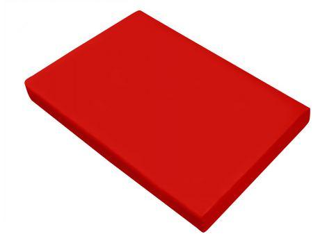 Prześcieradło satynowe 160x200 Czerwone Greno bez gumki