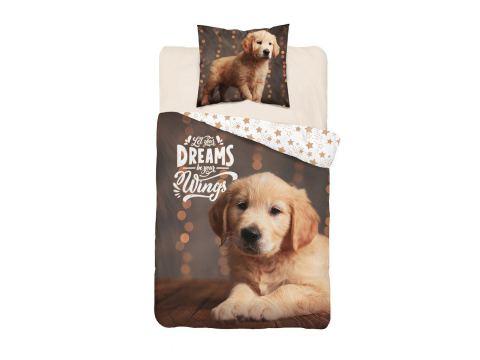 Pościel z bawełny 160x200 Labrador 3622 A Holland  holenderska dla dzieci