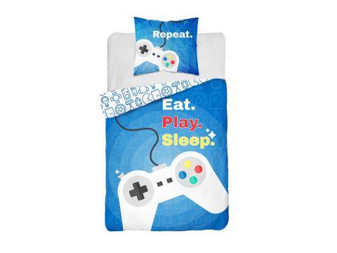 Pościel z bawełny 160x200 Eat. Play. Sleep 3623 A Holland  holenderska dla dzieci
