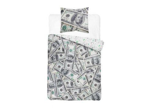 Pościel z bawełny 140x200 + 70x80 Dolary 3624 A Holland  holenderska dla młodzieży