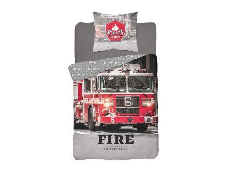 Pościel z bawełny 140x200 + 70x80 Fire 3629 A Holland  holenderska dla młodzieży Straż pożarna