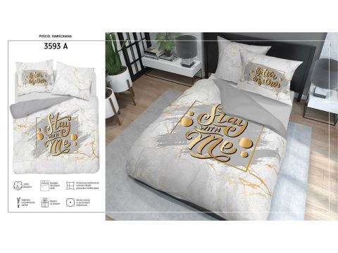 Pościel bawełniana 160x200 3593 A  Stay Wite Me Holland  holenderska
