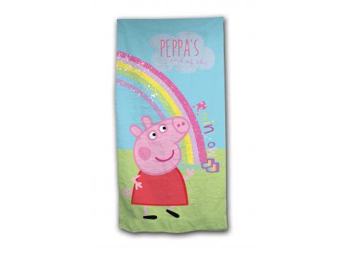 Ręcznik Plażowy licencyjny 70x140 cm Peppa Pig  dla dzieci Świnka Peppa
