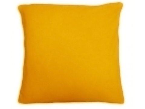 Poszewka  jersey na poduszkę żółty 40x40