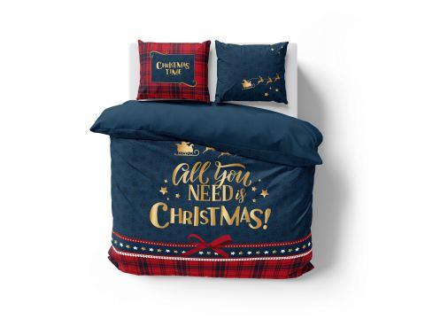 Pościel z bawełny 160x200 3901 A  Christmas Time Holland Christmas holenderska