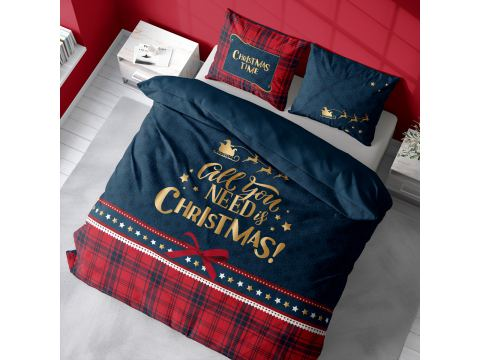 Pościel z bawełny 220x200 3901 A Christmas Time Holland holenderska