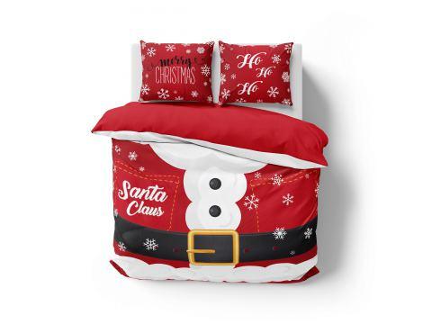 Pościel z bawełny 160x200 3902 A  Mery Christmas Holland Christmas holenderska