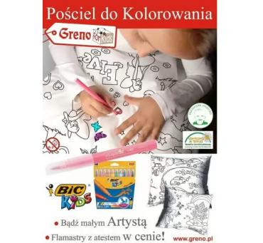 Pościel dziecięca do kolorowania z pisakami Girl 160x200  Greno