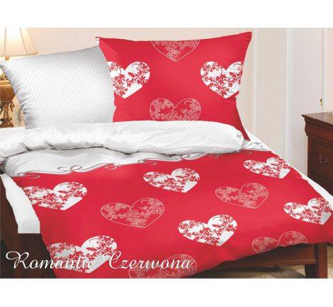 Komplet pościeli satynowej  Romantic czerwony 140x200   Greno Gold Line