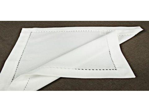 Serwetka z mereżką 40x40 biały