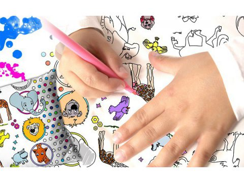 Pościel  z pisakami  dziecięca do kolorowania  zwierzaki 160x200  Greno