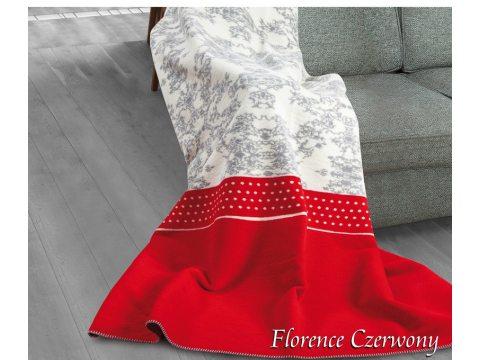 Koc Glamour Florence Czerwony 150x200