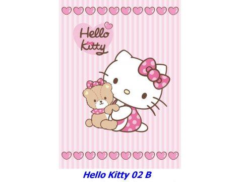 Kocyk dla dzieci akrylowy 80X110 cm Hello Kitty HK 02 B