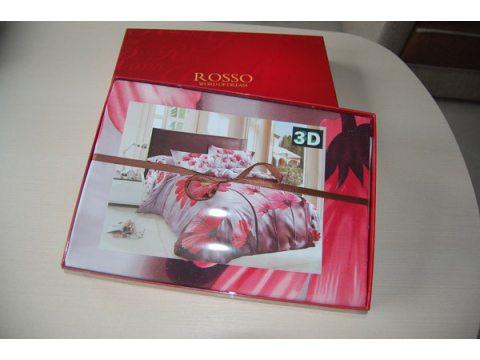 Komplet pościeli satynowej 220x200 Rosso 3D wzór 154