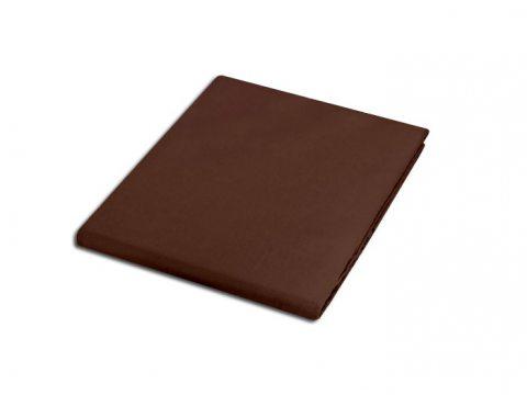 Prześcieradło satynowe 220x200 czekoladowe  80053 bez gumki