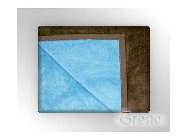 Koc Glamour  150x200  Błękit brąz