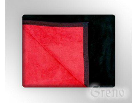 Koc Glamour  150x200 Czerwony / Czarny  Greno