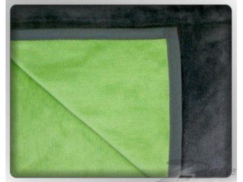 Koc Glamour  150x200 Stalowy / zielony  Greno