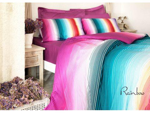 Pościel z bawełny  4 el. Rainbow 160x200