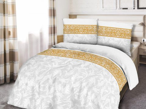 Pościel z satyny bawełnianej  Angelica White 180x200