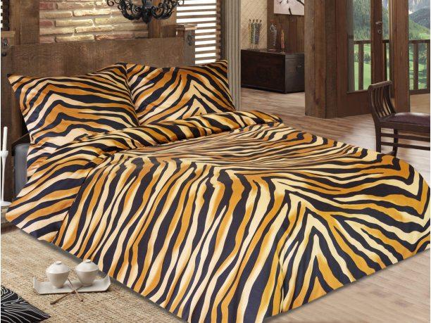 Komplet pościeli satynowej  Bengal Brown 160x200