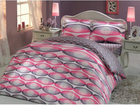 Pościel z satyny bawełnianej   4 el.  Caprice Pink   200x220