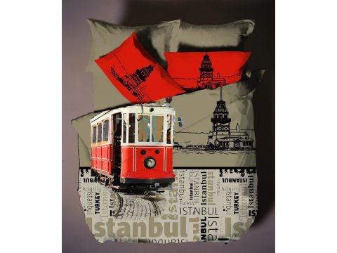 Komplet pościeli z satyny  4 el. Istanbul 2  200x220