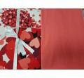 Pościel bawełniana  4 el.  Juana  Red  200x220  - na prezent - ślub