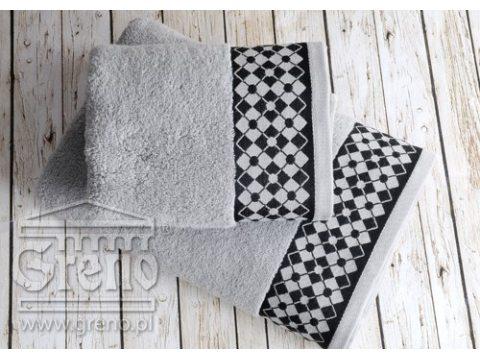 Ręcznik Greno William 50x90 Stalowy