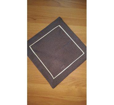 Serwetka z lamówką 25x25  brąz 003/007