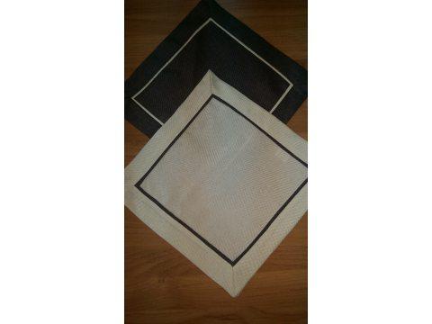Serwetka z lamówką 25x25  jasny beż 003/007